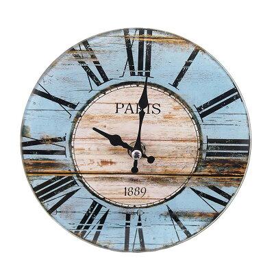 パール金属 卓上 ガラス 時計 置時計 掛け時計 兼用 round   12a1801-2 n-8193