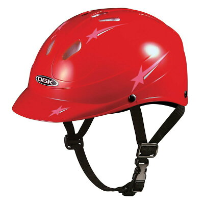 OGK オージーケー 子供用ヘルメット 47-51cm MILPOP-5/SG付 47-51cm レッド Y-6697
