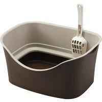 ラクラク猫トイレ ダブルブロック ブラウン(1セット)