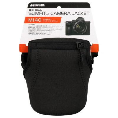 ハクバ プラスシェル スリムフィット02 カメラジャケット M140 ブラック DCS-SF02M140BK