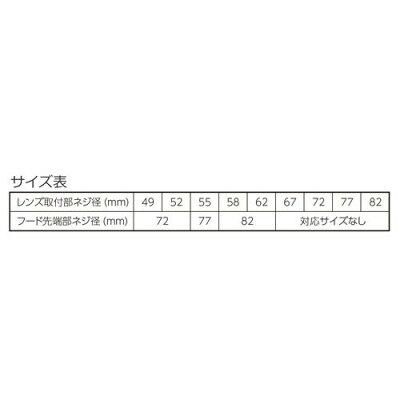 ハクバ ワイドメタルレンズフード 82mm KWMH82