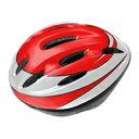 AVIGO キッズヘルメット Lサイズ レッド LED付 (5860cm)