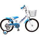 16インチ 幼児用自転車 補助輪付き ロサリオ ホワイトブルー 166122B