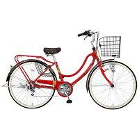 MARUKIN26型 自転車 フロートミックス266-G レッド/6段変速 MK-14-061 MK14061