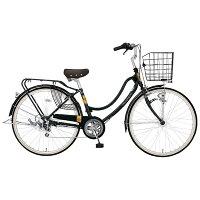 MARUKIN26型 自転車 フロートミックス266-G ダークグリーン/6段変速 MK-14-061 MK14061