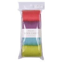 クラフト フェルト手芸 フェルト羊毛(原毛) ウールキャンディ4色セット ティーンカラー