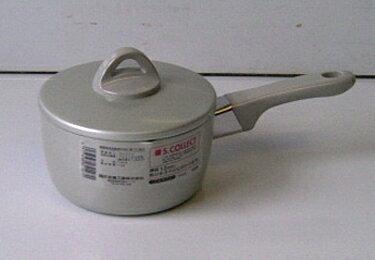 14cm S.COLLECT / 片手鍋 アルミ製 / 蓋付き エス コレクト ミルクパン 藤井金属 日本製 パールアルマイト加工 シルバー