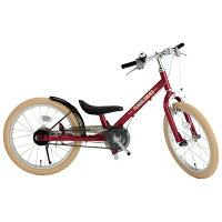 ピープル people 補助輪パスして ラクショーライダー 18インチ トレーニングバイク レッドメタリック 18サイズ YGA-263