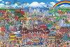 ビバリー ジグソーパズル 2000スモールピース 田中直樹 日本 名所大集合! BEV-S32-506