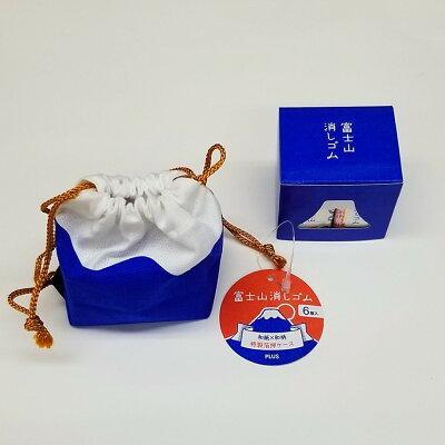 PLUS エアイン富士山消しゴム 限定 巾着袋仕様 富士包 ER-100AIF-6P 36594