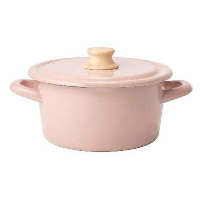 富士ホーロー工業 FUJIHORO CTN-18W.AP コットン 18cm キャセロール アッシュピンク