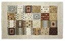 ギャベ風のあたたかみあるデザイン ベルギー製玄関マット 丈夫で長持ちのウィルトン織り 60x90cm ベージュ 1204231160600903615