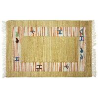 ウール100% インドで織られた平織りマット ノマドキリム 5721マルチ 70x120cm 2200411160701202130
