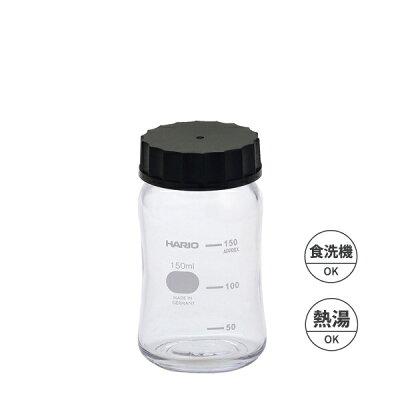 HARIO/耐熱ボトル オーヴァル 150ml ブラック/HBO-150-B