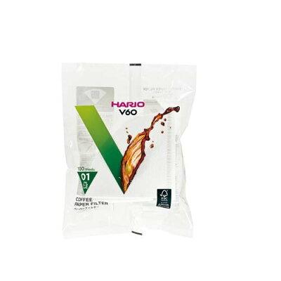 ハリオ V60用ペーパーフィルター01W 1-2杯用 VCF-01-100W(100枚入)
