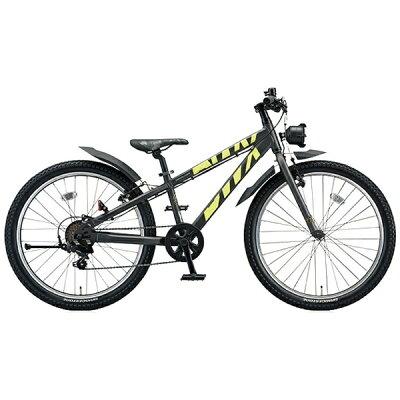ブリヂストン 26型 子供用自転車 BWX STREET Lサイズ ガンメタリック×イエロー/7段変速 BXS676