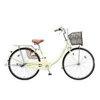 ブリヂストン 26型 自転車 エブリッジU E.Xクリームアイボリー/シングル EB60UT