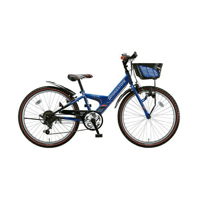 ブリヂストン 24型 子供用自転車 エクスプレスジュニア ブルー&ブラック/外装6段変速 EX46