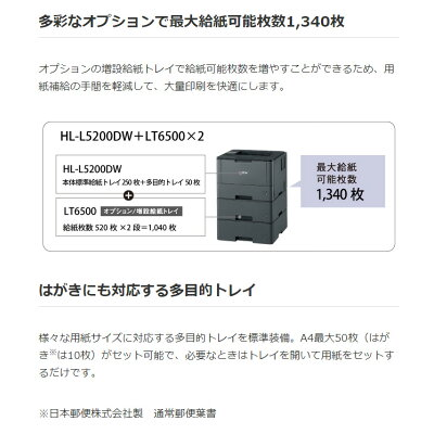 brother レーザープリンター HL-L5200DW