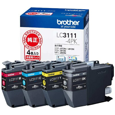 brother インクカートリッジ LC3111-4PK 4色