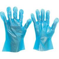 ポリエチレン使い捨て手袋 外エンボス 200枚入 青 M VERTE576M 7186 3915301
