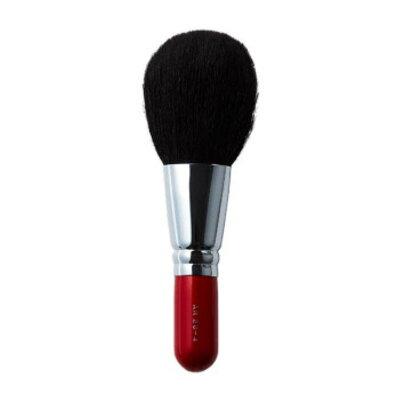 ARR20-4広島 熊野筆パウダーブラシ/の赤軸ショートタイプ/化粧ブラシ