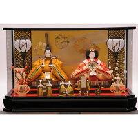 雛人形トイザら親王飾り 優艶黒塗六角アクリル