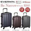 EVERWINエバウィン 157センチ以内 超軽量設計 スーツケース Be Narrow 47cm 32L 31237