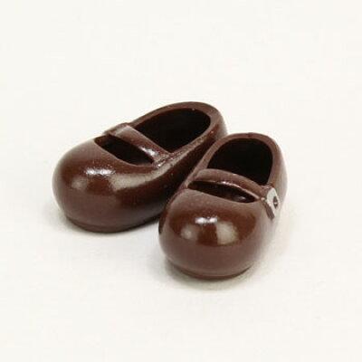 11cm おでこ靴 マグネット付き 茶 ドール用衣装 オビツ製作所