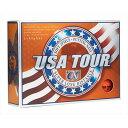 USA TOUR OR USA ツアーディスタンス +α ゴルフボール 12球入り オレンジ USA TOUR DISTANCE +α 12P ORANGE USATOUROR