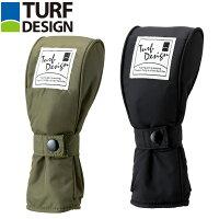 TDHC-1772U BK 朝日ゴルフ TURF DESIGN ユーティリティー用ヘッドカバー ブラック TDHC1772UBK