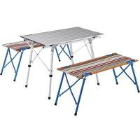 ロゴス オートレッグベンチテーブルセット4 ストライプ No.73188001(1セット)