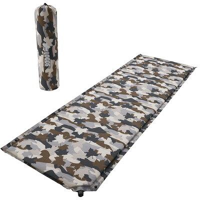 ロゴス LOGOS キャンプ 寝袋用 セルフインフレートマット・SOLO カモフラ 72884112