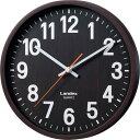 LANDEX(ランデックス) 壁掛け時計 バーレルタイム 木目調 アナログ表示 ステップ秒針 ダークブラウン YW9136DBR