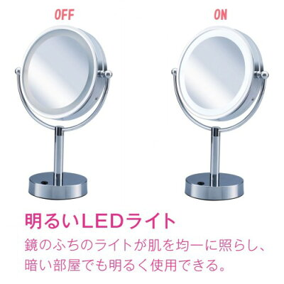 ビジョーナ 拡大鏡 引き寄せミラー 卓上タイプ 丸小 KBE-3010/S(1コ入)