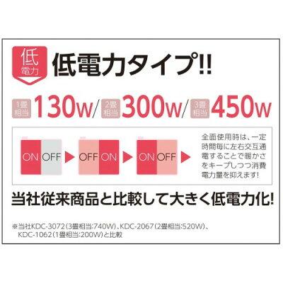 コイズミ 電気カーペット KDC-2081(1枚入)