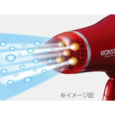 KOIZUMI MONSTER ダブルファンドライヤー KHD-W735/R