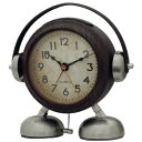 ビッグサウンド フットベル目覚まし時計アミーゴ (ウッド)