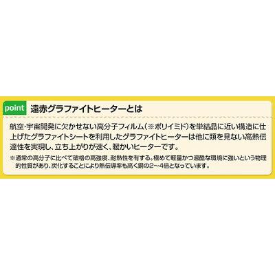 YAMAZEN グラファイトヒーター DCTS-A091(N)