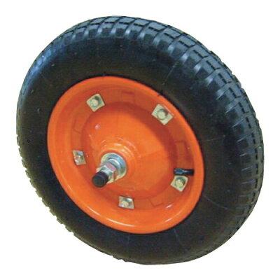 一輪車用 タイヤ オレンジ/クロ
