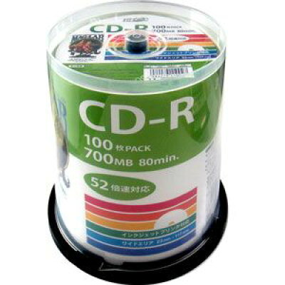 HIDISC CD-R700MB100枚スピンドル52倍速 CD-R HDCR80GP100