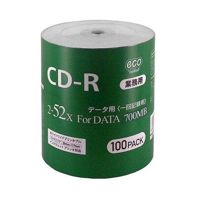 MAG-LAB  データ用CD-R 700MB 100枚エコパック 業務用 CR80GP100_BULK