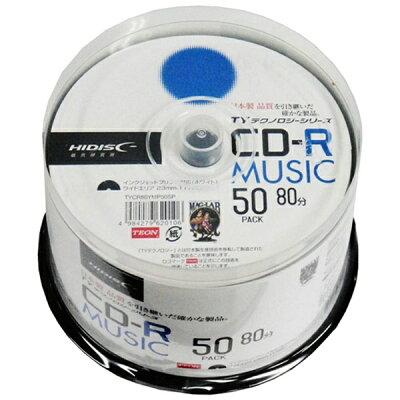 HIDISC 音楽用 48倍速 CD-R TYCR80YMP50SP