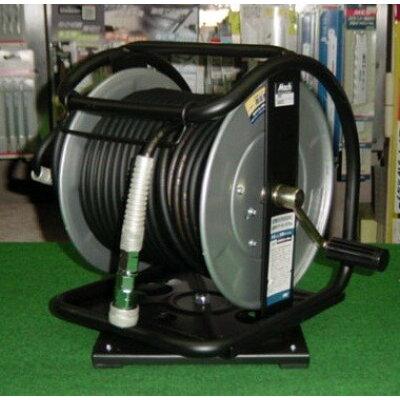 フジマック/FUJIMAC 高圧用C型ドラム (スーパースムージーホース付) ロック一発カプラ スチール 回転台 ブラック 30m GHD-630TC JAN:4984546604402