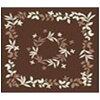 水野 ラグ フラワーリング 180×180cm/ブラウン