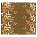 水野 ラグ ソフトリーフ 180×180cm/ブラウン