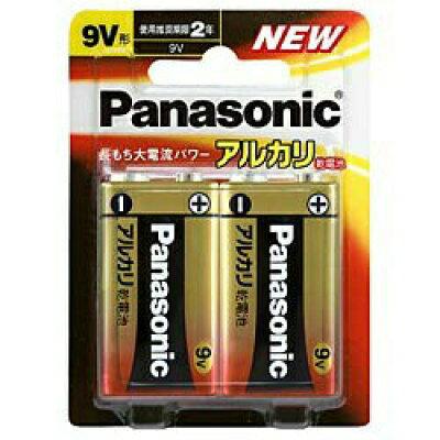 パナソニック アルカリ乾電池 9V形 6LR61XJ2B(2コ入)