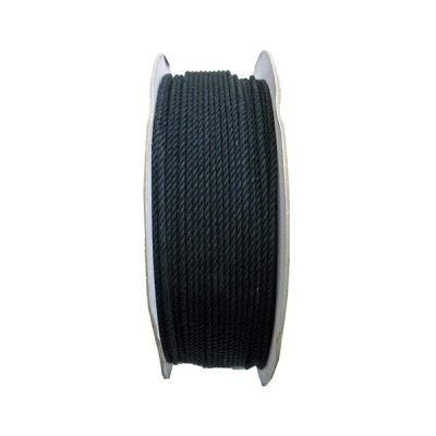 まつうら工業 綿ロープ 3ミリ 黒 300M ドラム巻