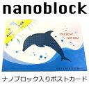 nanoblockポストカード Gift 室町スピード印刷 NP033 カード Gift イルカ