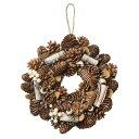 大橋新治商店 木の実のリース Natural Wreath リース 25cm 木の実ブラウン 28-008